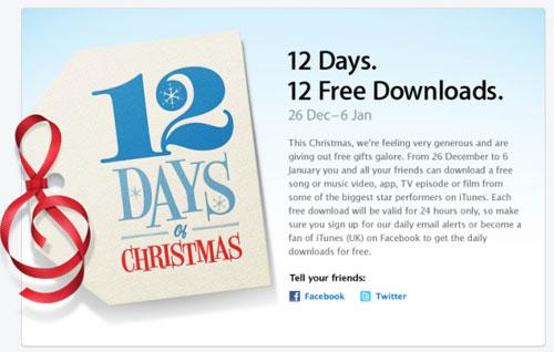 12 dager med gratis musikk på iTunes