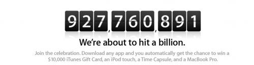 1 milliard nedlastninger