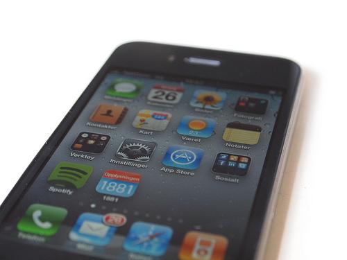 Skjermen på iPhone 4