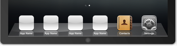 Du kan ha seks apps i iPad-dock