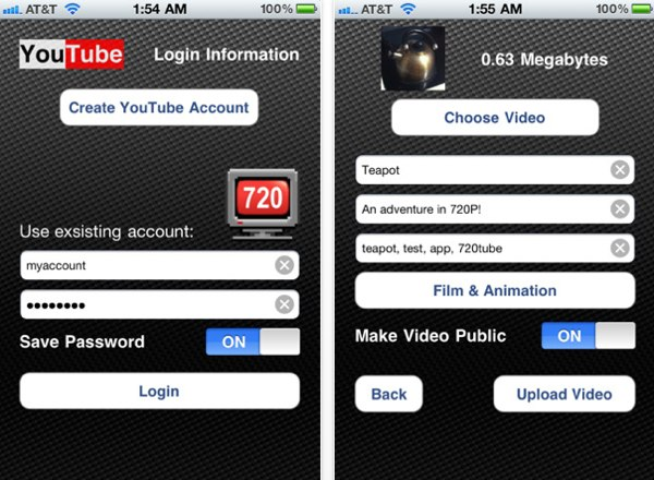 Last opp YouTube-videoer i full kvalitet fra iPhone 4