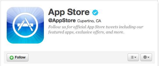 Apple med offisiell Twitter-konto