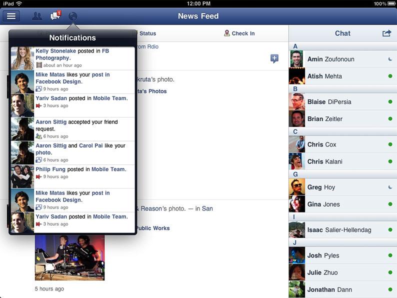 Facebook klar for iPad