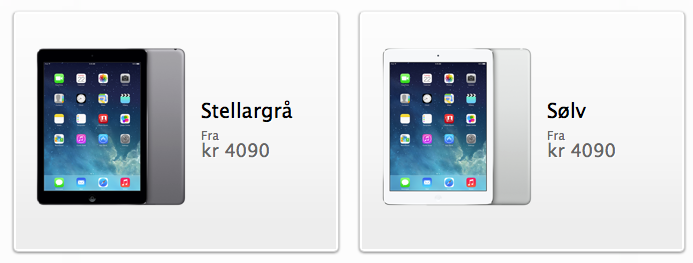 iPad Air er i salg