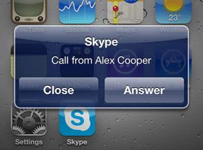 Skype klar for iOS4