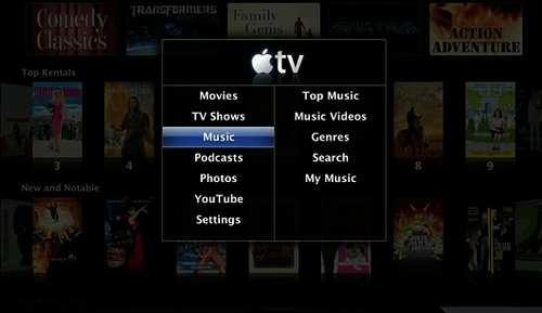 Nytt grensesnitt til Apple TV
