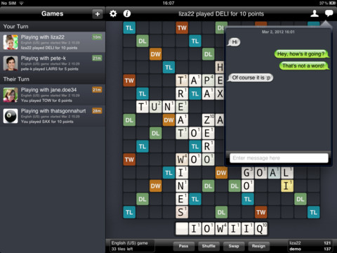 Wordfeud nå for iPad