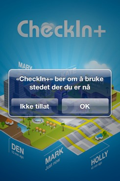 Sjekk inn med CheckIn+