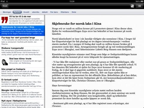 Dagens Næringsliv på iPad