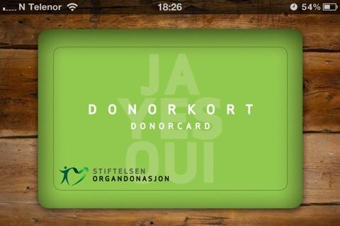 Organdonasjon på iPhone