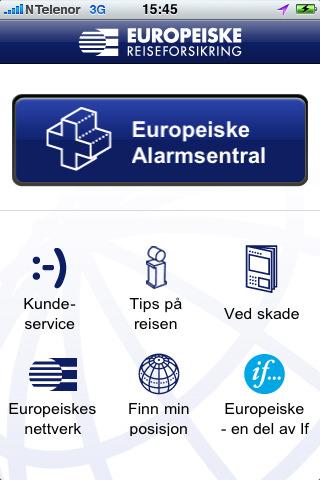 europeiske reiseforsikring app