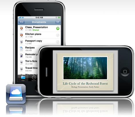 MobileMe på iPhone