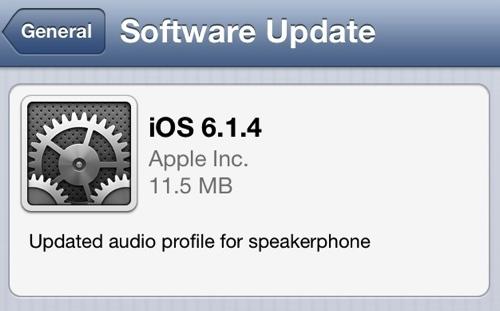 iOS 6.1.4 på iPHone 5
