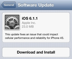 iOS 6.1.1 lansert - kun for iPhone 4S