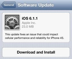 iOS 6.1.1 lansert - kun for iPhone 4S