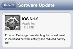Apple oppdaterer iOS til 6.1.2