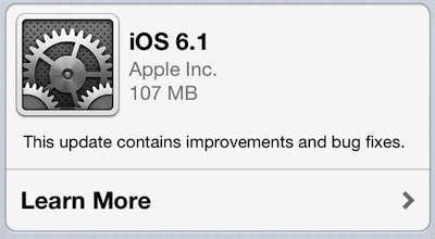 iOS 6.1 er her