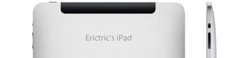 iPad-gravering