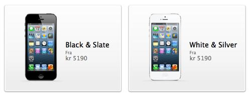 iPhone 5 er nå i salg i Norge, men lange ventelister