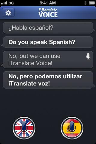 iTranslate Voice gir deg stemmeoversettelse