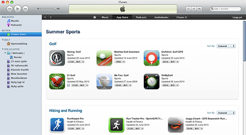 iTunes Summer Sports