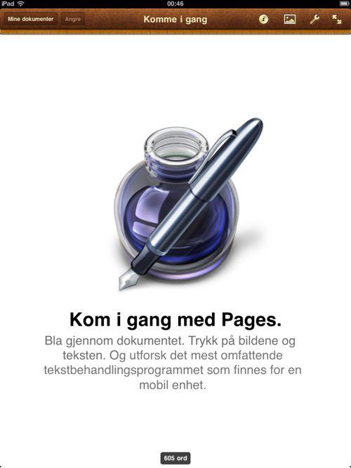 iWork på norsk
