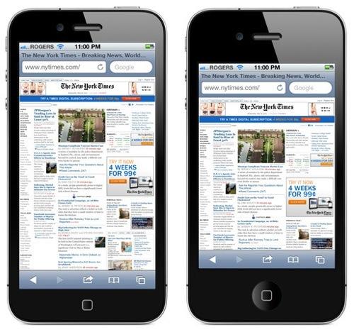 Skjermen på ny iPhone