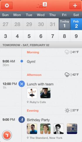 Sunrise - en gjennomført kalenderapplikasjon