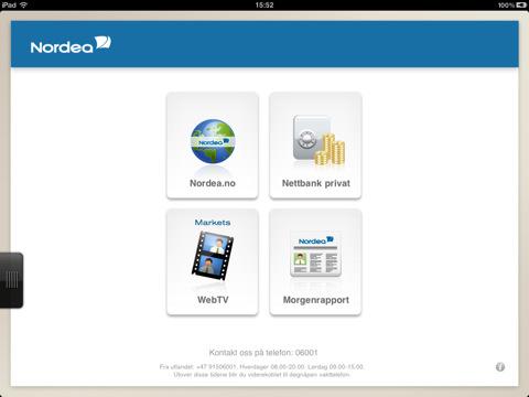 Nordea på iPad