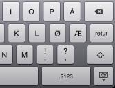 Norsk iPad-tastatur