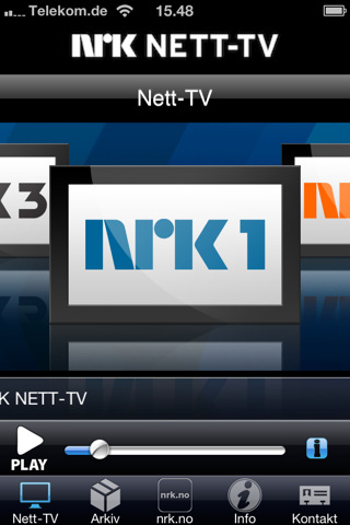 NRK Nett TV på iPhone