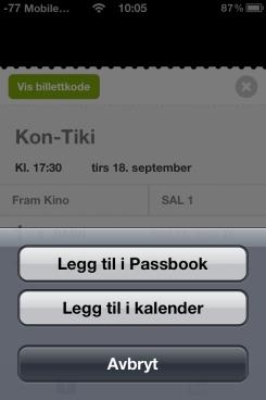 Første norske Passbook-applikasjon er klar