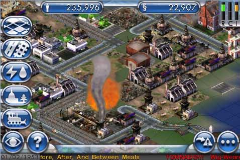 Test av Sim City til iPhone App Store