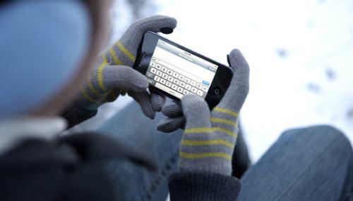 Bruk iPhone med hansker