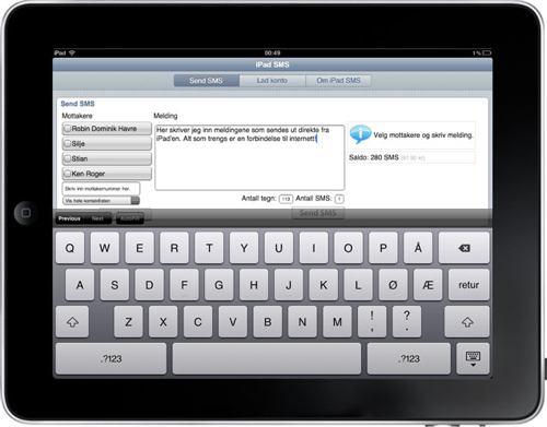 SMS fra iPad