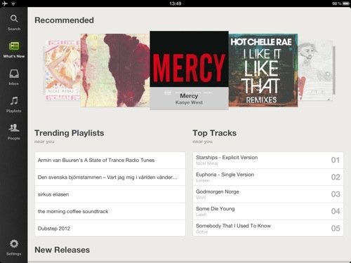Spotify for iPad er her