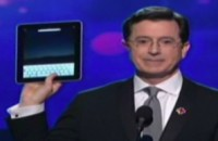 Stephen Colbert med iPad