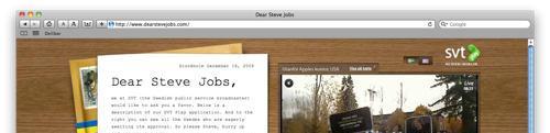 SVT ber Steve Jobs godkjenne iPhone-app
