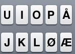 iPhone tastatur