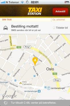 Taxistation gjør taxibestilling lett
