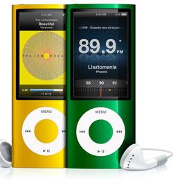 FM-radio i nye iPod nano