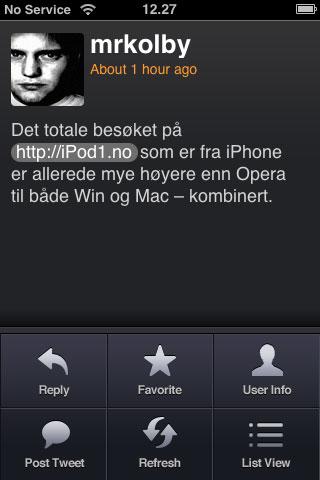Twitter på iPhone