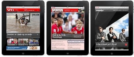 Slik blir VG på iPad